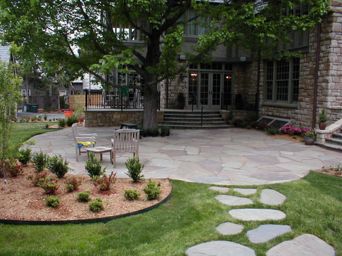 Tulsa Landscape Bluestone Patio