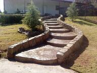 Stonemaker stairs and retaining wall in Oklahoma