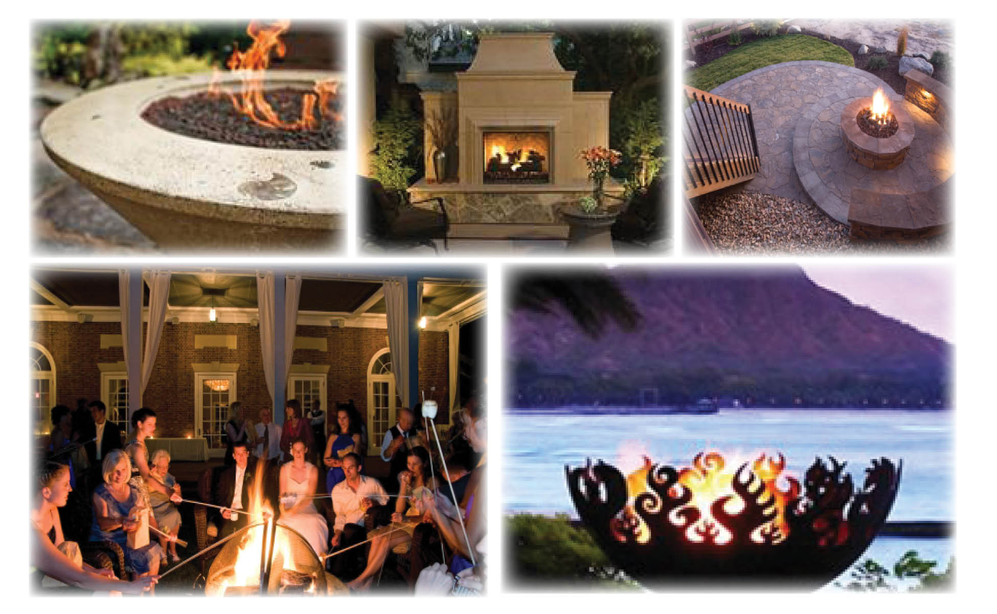 outdoor fire bowl, fire pit, fireplace for patio, backyard, or outdoor living area.