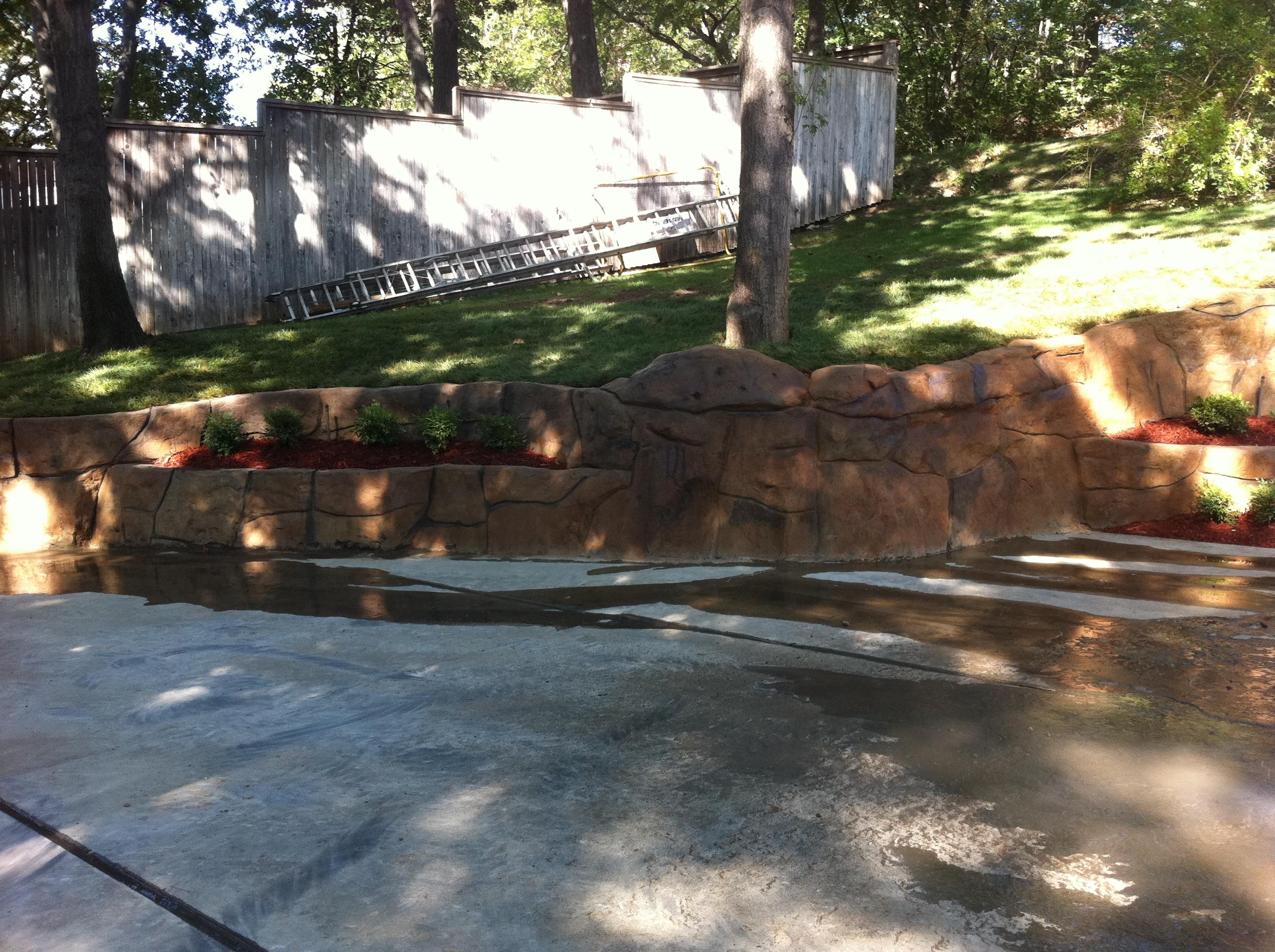 South Tulsa StoneMaker retaining wall