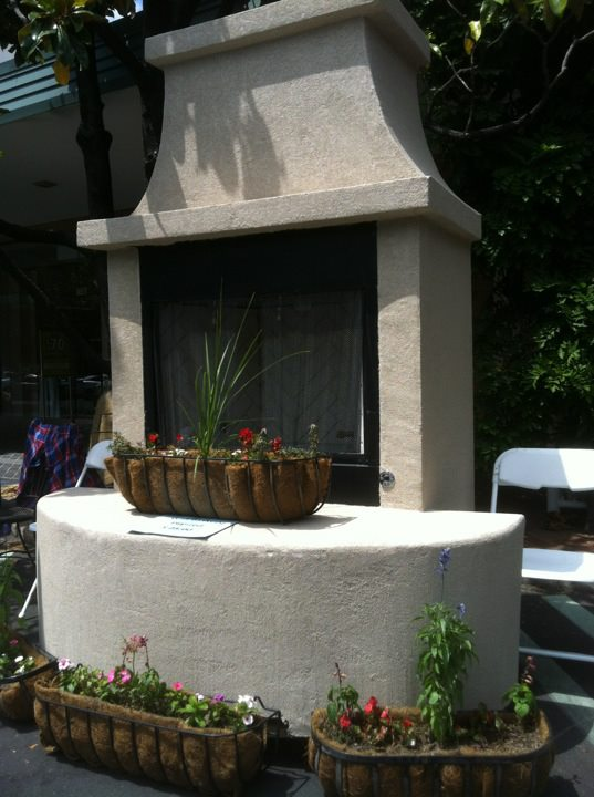 Galvacore Fireplace by Tulsa Landscape