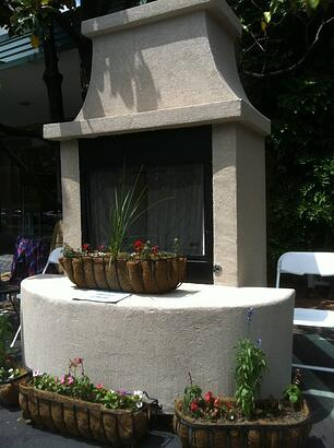 Outdoor Fireplace adds to the Tulsa Landscape