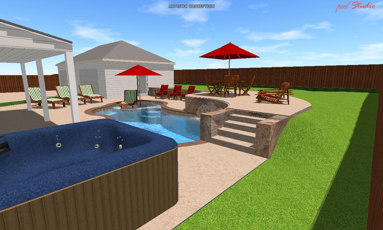 Tulsa landscape 3-D design