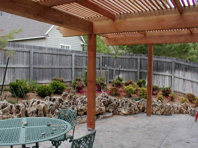 Tulsa Landscape Cedar Shade Arbor Pergola