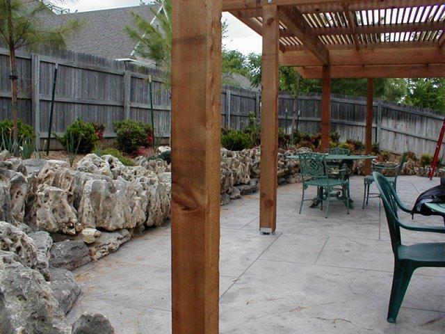 Tulsa Landscape Cedar arbor