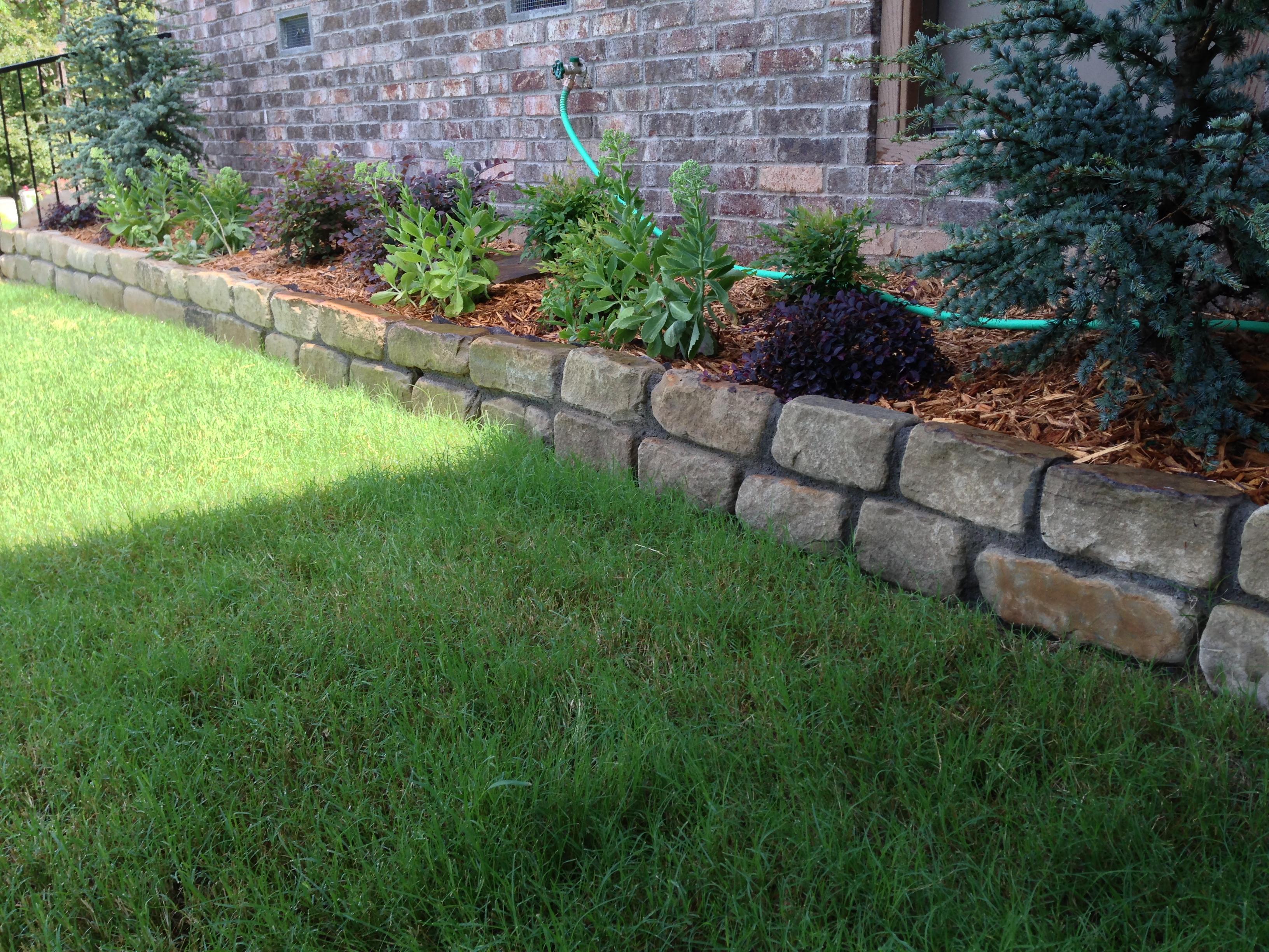 Ozark Tan Brick Tumbled by Tulsa Landscape edging
