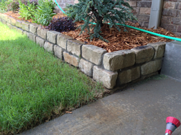 Tulsa Landscape rock bed edging