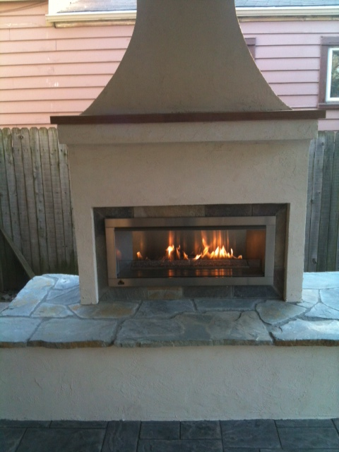 Hadco Services linear fireplace