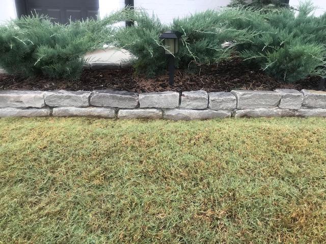 Brick Chopped Gray edging by Tulsa Landscape